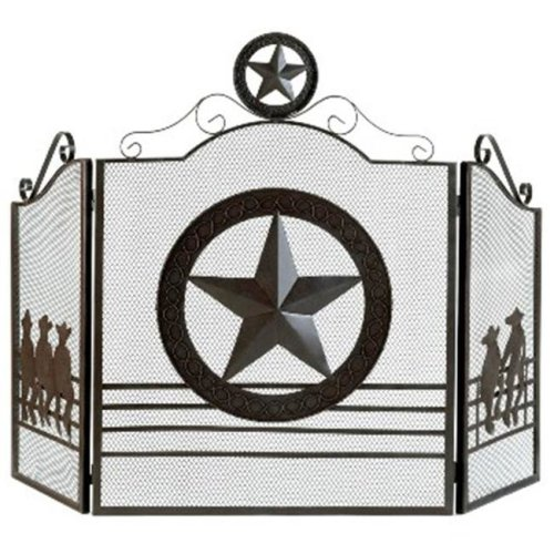 Zingz & Thingz 57070264 Western Lone Star Fireplace Screen