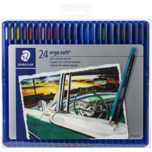 Ergo Soft Colored Pencils 24/Pkg-Assorted Colors