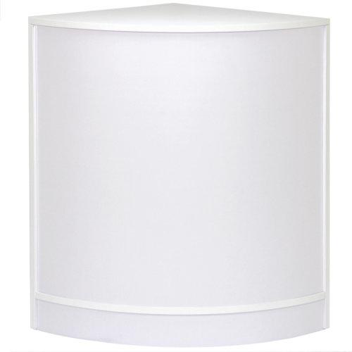 Curved Corner Shop Retail Counter White CM60
