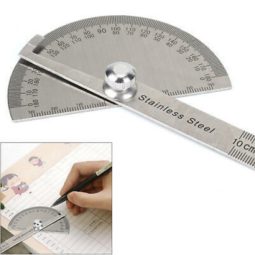 180¡ã Angle Ruler Protractor Round Angle Finder Craftsman Ruler Stainless Stee