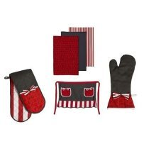 Carnival Complete Set Of Oven Gloves, Apron and Tea Towels