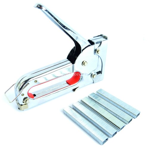 Hyfive - Staple Gun - Fabric Upholstery Tacker - 1000 Staples Included