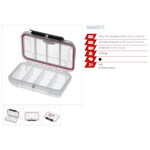 Original Panaro IP67 Professional Waterproof Cases - Box - Trunk - more (MAX001T TRANSPARENT)