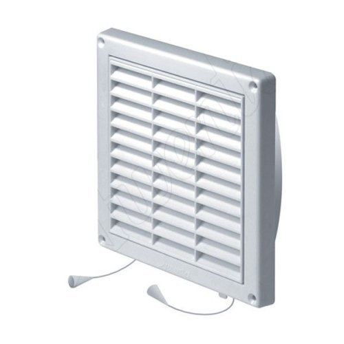 130x130mm Wall Ventilation Grille Cover Net Pull Cord Shutter 100-125mm Diameter