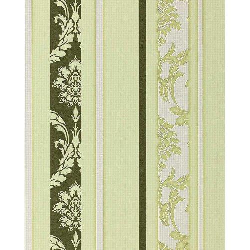 EDEM 053-25 wallpaper baroque stripes moss green white   5.33 sqm (57 sq ft)