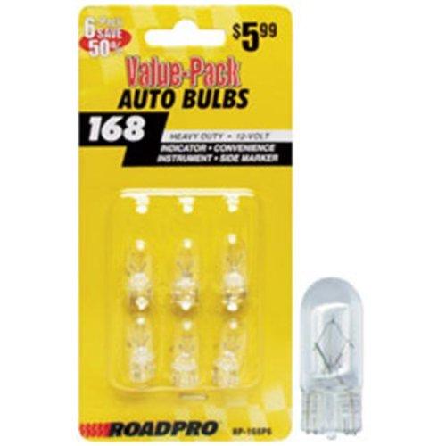 Roadpro RP-168P6 Marker - Instr - License Plate Bulbs-6 Pack