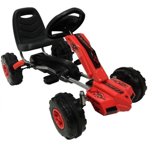 Avigo Blaze Kids' Ride On Pedal Go Kart - Red & Black