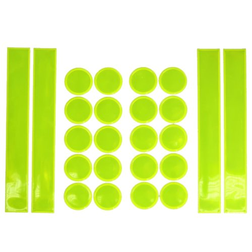 24 pc high visibility reflective safety sticker set motorcycle hi vis