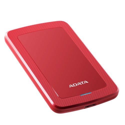 ADATA 4TB HV300 External USB 3.1 Hard Drive - Red AHV300-4TU31-CRD