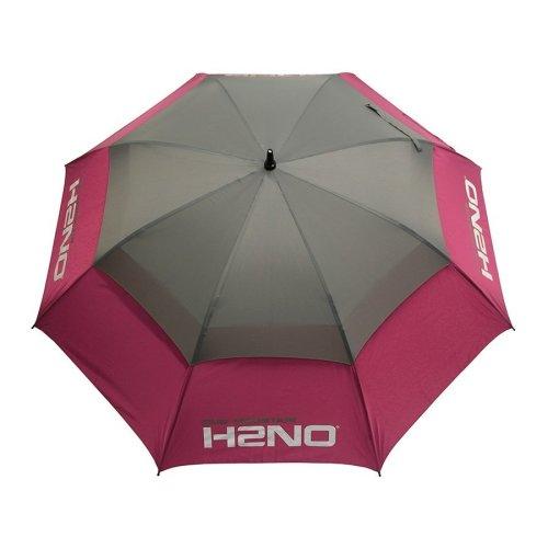 Sun Mountain H2NO Waterproof Dual Canopy Golf Umbrella Pink/Grey
