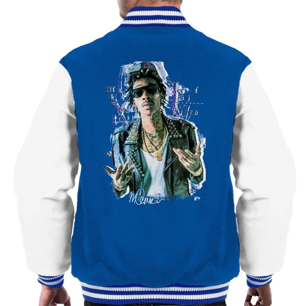 28f458667284 Sidney Maurer Original Portrait Of Rapper Wiz Khalifa Men s Varsity Jacket  ...