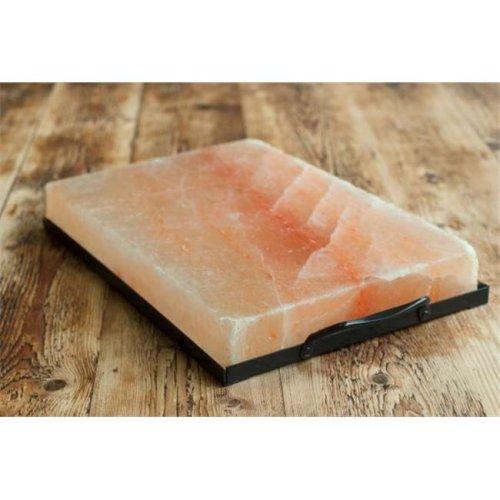 Charcoal Companion CC6064 Himalayan Salt Plate & Holder Set