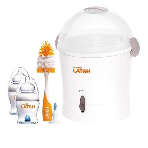 Munchkin Latch Electric Steriliser Starter Set | Baby Bottle Steriliser