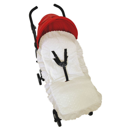 Broderie Anglaise Pushchair Compatible with Babystyle Cream