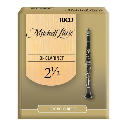 Rico Mitchell Lurie 2.5 Strength Reeds for Bb Clarinet (Pack of 10)
