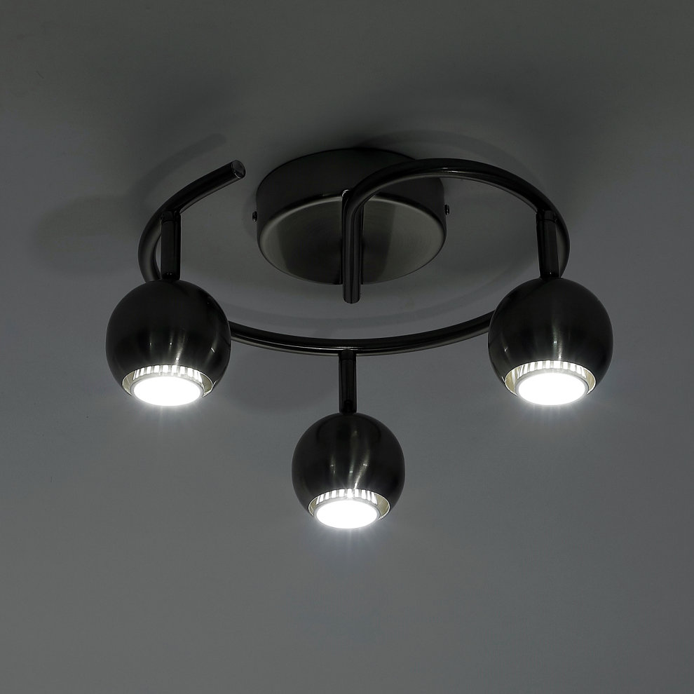 HOMCOM Modern 3 Way Crossover Ceiling Light Swirl Pendant Lamp Downlight G9 25W