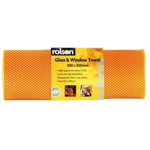 Rolson Clean & Gleam Glass Window Cleaning & Polishing Cloth Towel 42977