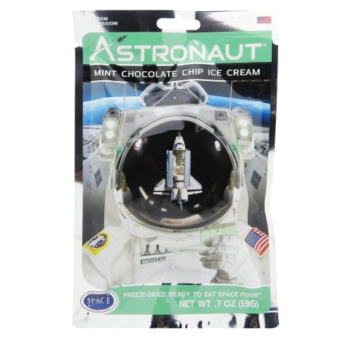 Astronaut Food - Freeze-Dried Mint Chocolate Ice Cream