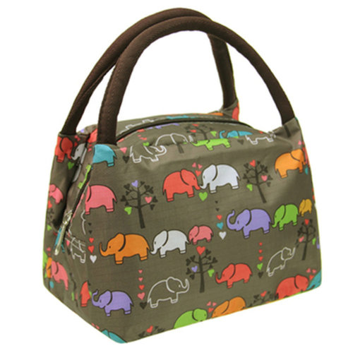 Durable Lunch Bag Lunch Tote Bag for Working Traveling Camping, Elephants