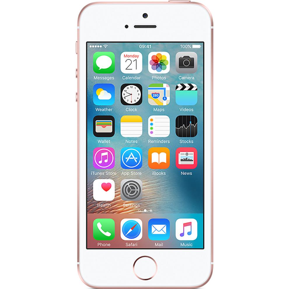 Three, 64GB Apple iPhone SE - Rose Gold