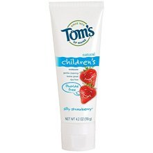 Toms of Maine Fluoride Free Childrens Toothpaste, Silly Strawberry, 4.20 oz