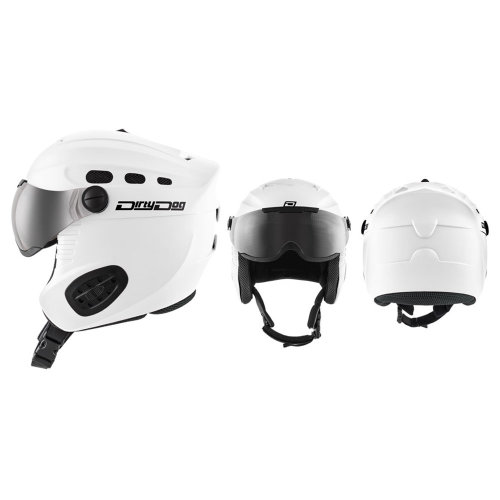 Dirty Dog Apache Snow Helmet With Visor - White