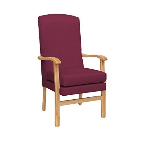 MAWCARE Deepdale Ortopaedic High Seat Chair - 19 x 20 Inches [Height x Width] in Highland Crimson (lc48-Deepdale_h)