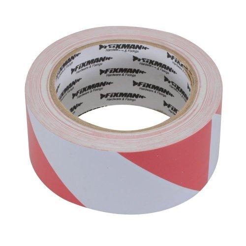 Fixman Hazard Tape 50mm x 33m Red/white