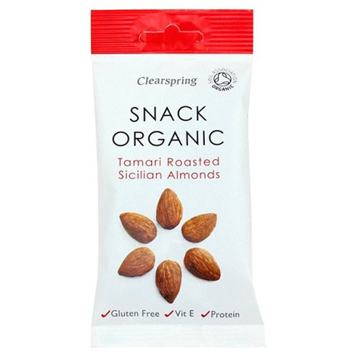 Clearspring Snack Organic Tamari Roasted Sicilian Almonds 30g