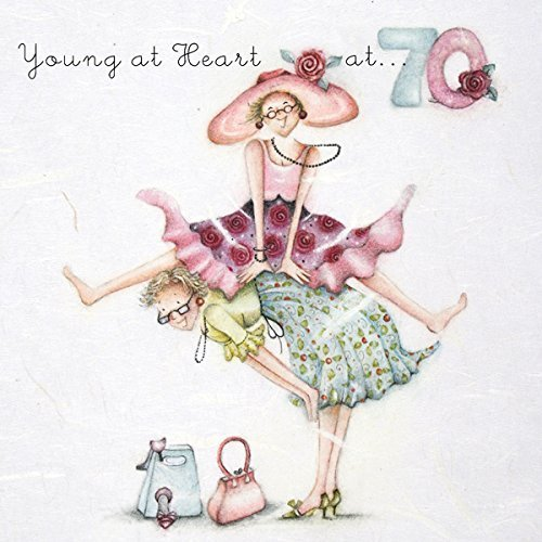 "70th Birthday Card ""Young at Heart"" (Ladies Who Love Life)"