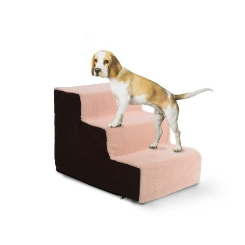 PawHut Deluxe Padded Pet Stairs | 3-Step Non-Slip Dog Staircase