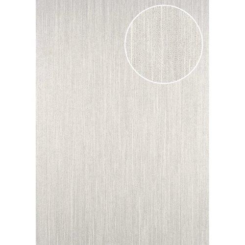 ATLAS CLA-596-7 Unicolour wallpaper subtly glittering silver beige 5.33 sqm