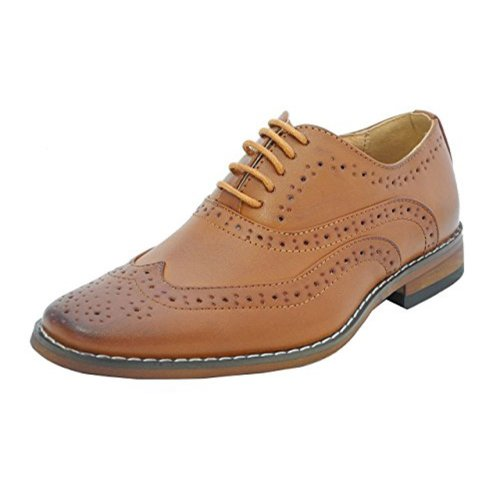 Goor Boys Brogue Shoe Tan