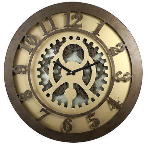 A&B Home 40052 20 x 2 in. Classic Gears Wall Clock, Rusty