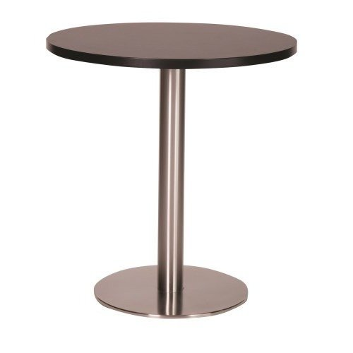 Daniella Brushed Stainless Steel Dining Table - Large Base with Various Top Sizes and Colours Wenge 700 Round (+40) Round Made to Measure(+25)