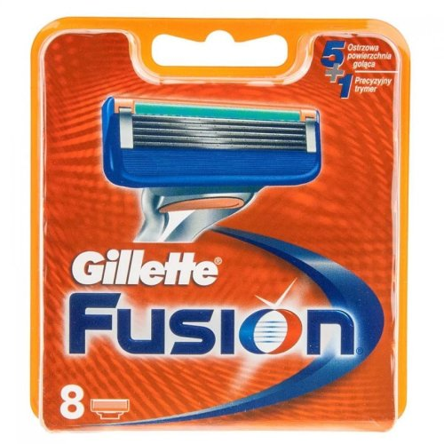Gillette Fusion Men's Replacement Razor 5-Blade Cartridges - 8 Pack of Blades