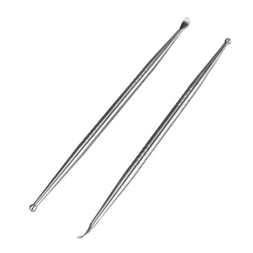 Earlywish 2pcs Tonsil Stone Removal Pick Tonsillolith Premium Tool Stainless Steel Oral