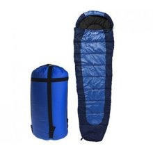 Summit Sleeping Bag - 350gsm Double Layer - Dark Blue -  summit sleeping bag 350gsm double layer dark bluedark greenpurple