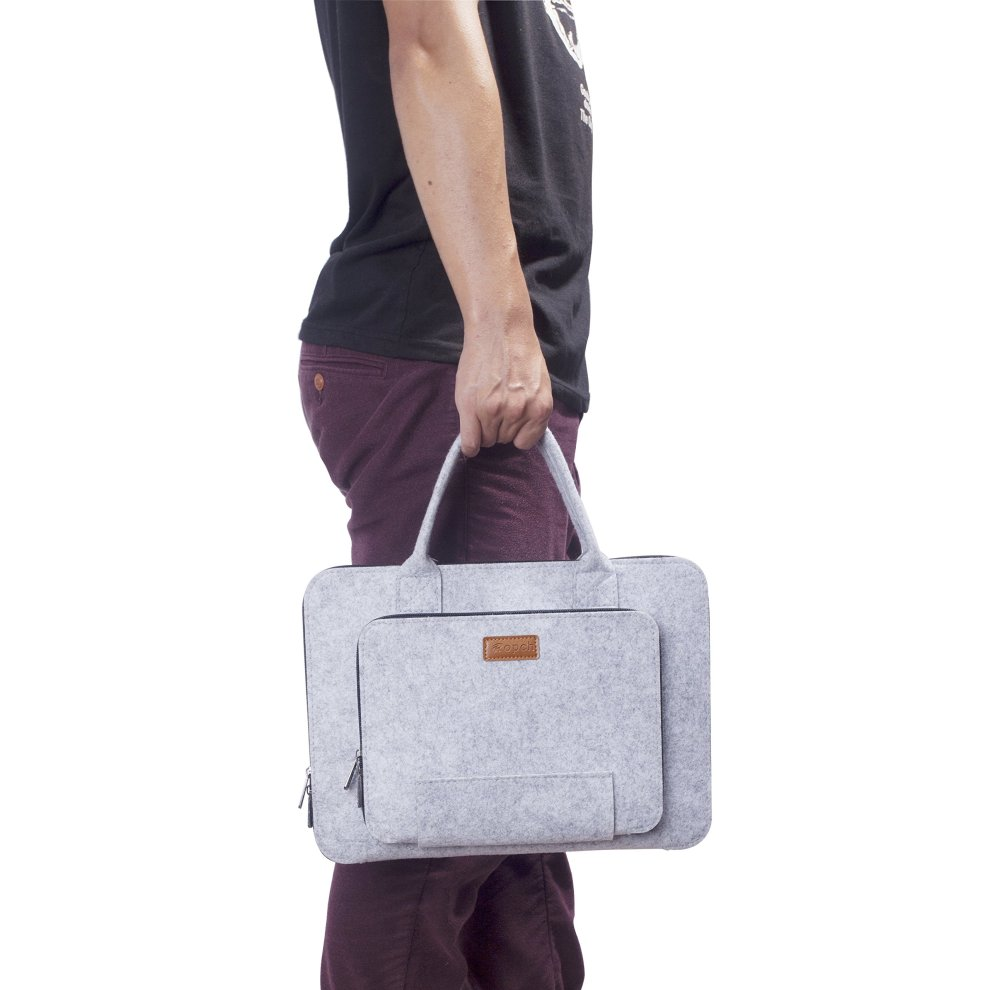 0784f45628a4 Ropch 17.3 Inch Laptop Bag, Felt Laptop Sleeve Notebook Computer Case  Ultrabook Tablet Briefcase Carrying Bag with Handle for 17 Acer / Asus /  Dell...
