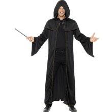 Wizard Cloak Unisex Fancy Dress Costume -  wizard cloak adult mens fancy dress book week black costume smiffys womens outfit long ladies potter 45605