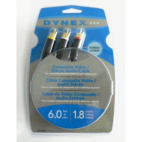 Dynex DX AVO61 Cable Composite Audio Video rca av 6ft
