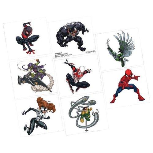 AmScan AM398791 Spider Man Tattoos - 8 per Pack