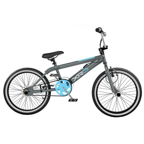 "2019 Rooster XR5 Freestyler Kids 20"" Wheel BMX Bike Cycle Gyro Grey Blue RS153"