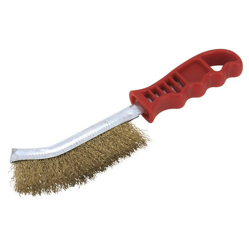 Sealey WB05/R Brassed Steel Wire Brush with Plastic Handle