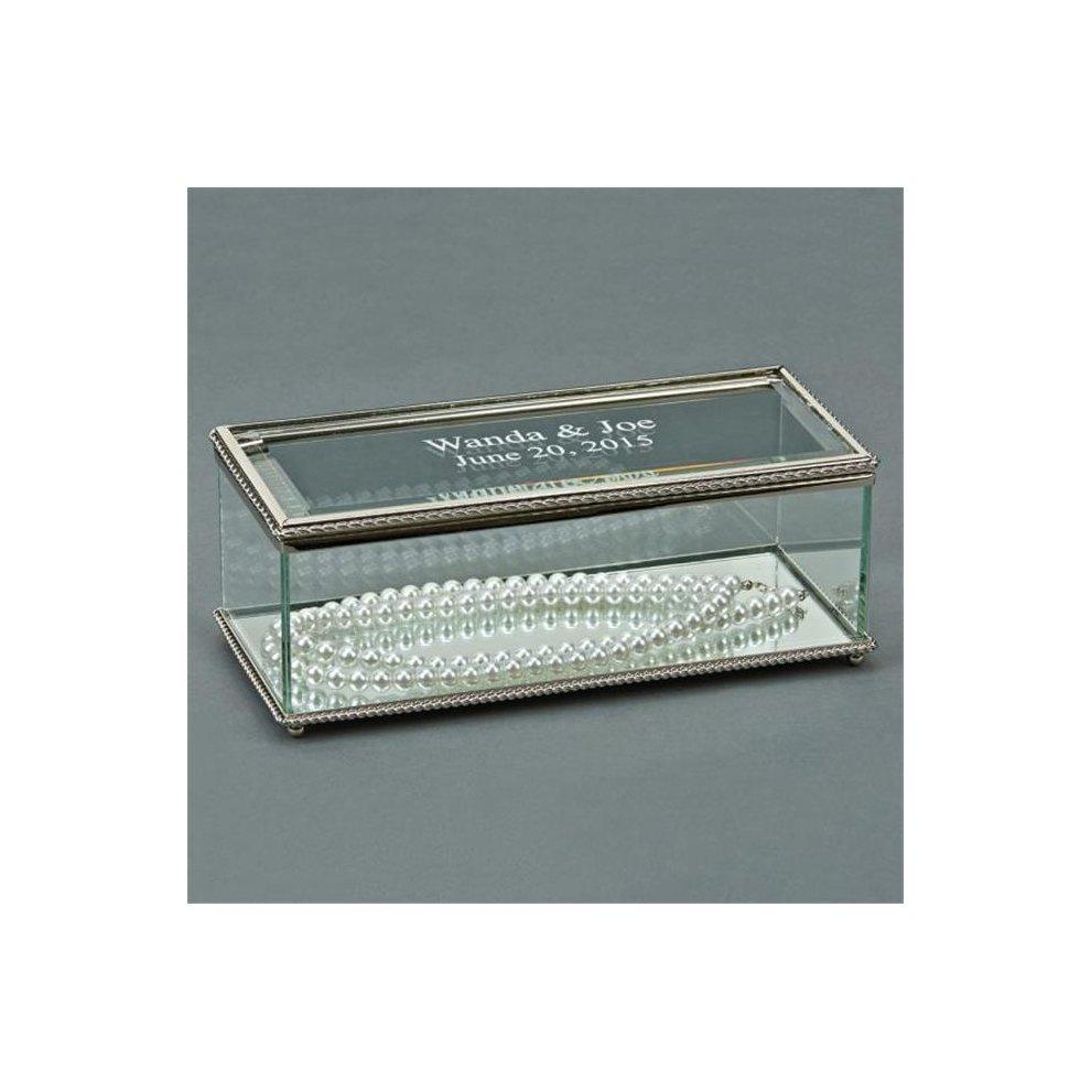 0bc102fc814 Creative Gifts International 003617 8 in. Glass Rectangular Hinged Box. >
