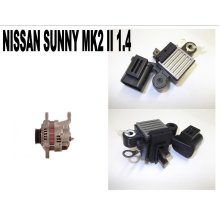 NISSAN SUNNY MK2 II 1.4 1.6 1986 - 91 NEW ALTERNATOR REGULATOR