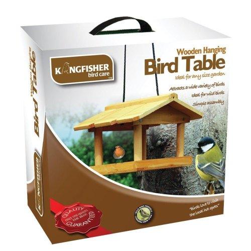 Hanging Wild Bird Feeding Station Garden Wooden Tree Birds Feeder Table