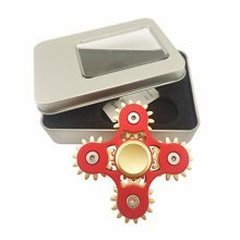 5 Gears Linkage Metal Fidget Hand Spinner Fast Rotation Luxury Stress Relief Toy(Red)