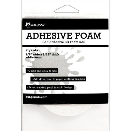 "Ranger Adhesive Foam Roll 1/2""X1/16""X2yd-White"