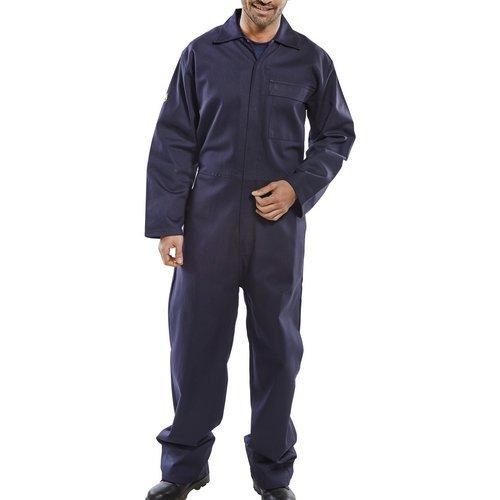 "Click CFRBSN36 Flame Retardant Boiler Suit Navy Blue 36"""